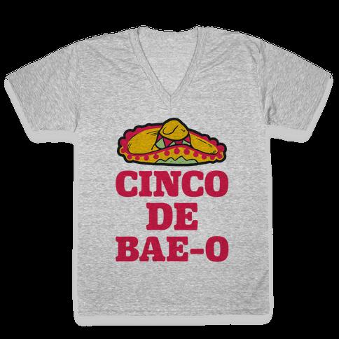 Cinco De Bae-o V-Neck Tee Shirt