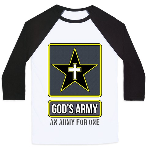 God's Army Baseball Tee