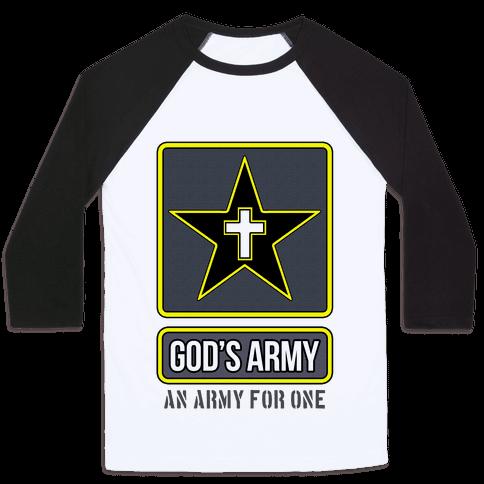 God's Army Baseball Tee