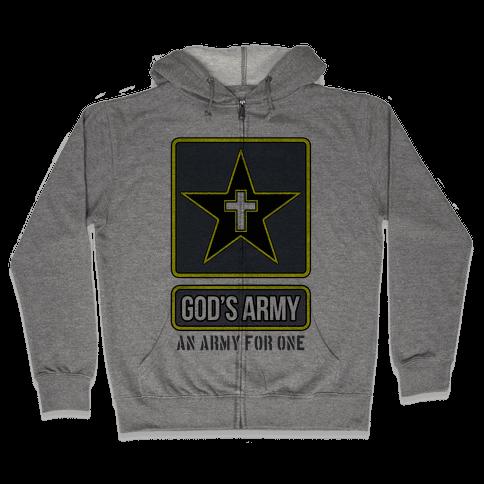 God's Army Zip Hoodie