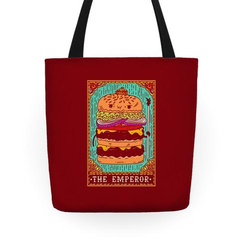 Burger Emperor Tarot Card Tote
