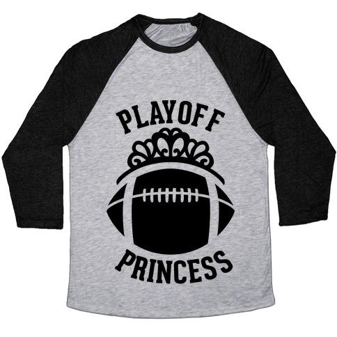 Playoff Princess (Football) Baseball Tee