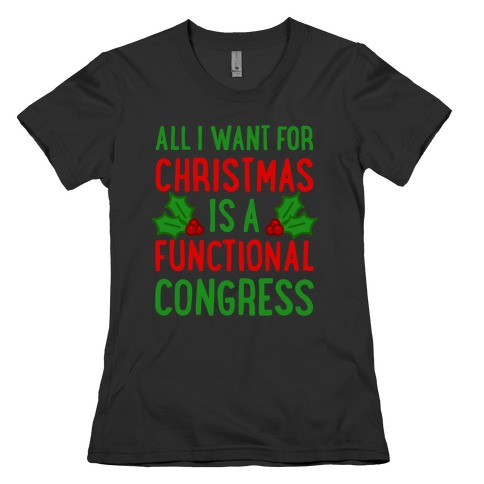 All I Want For Christmas Is A Functional Congress Womens T-Shirt