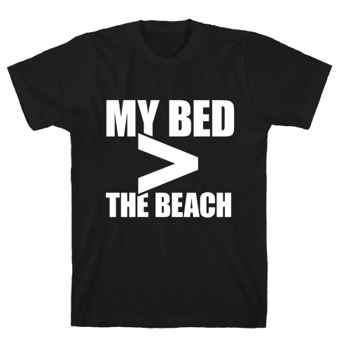 My Bed > The Beach Mens T-Shirt
