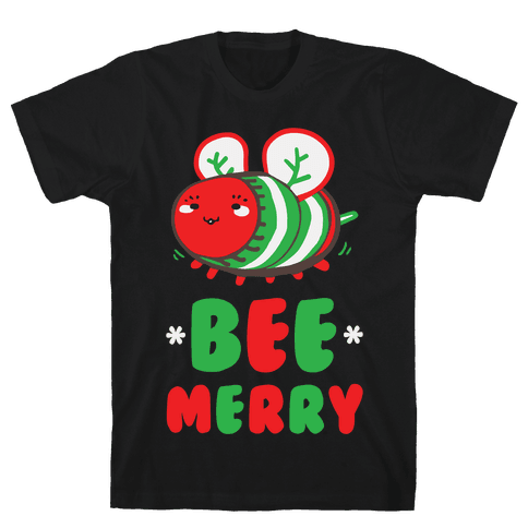 Bee Merry Mens T-Shirt