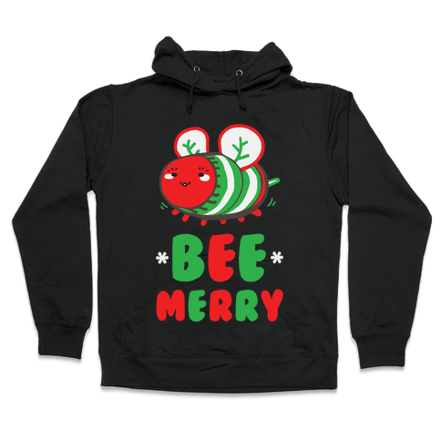 Bee Merry Hooded Sweatshirt