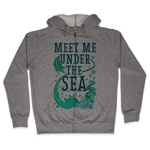 Meet Me Under the Sea Zip Hoodie