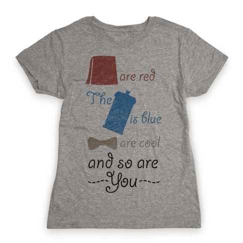 Fezzes Are Red Womens T-Shirt