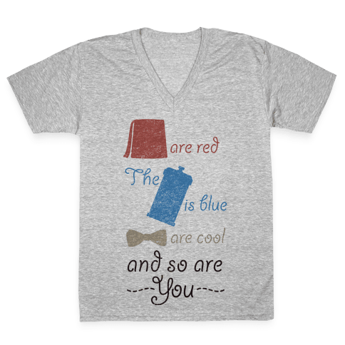 Fezzes Are Red V-Neck Tee Shirt