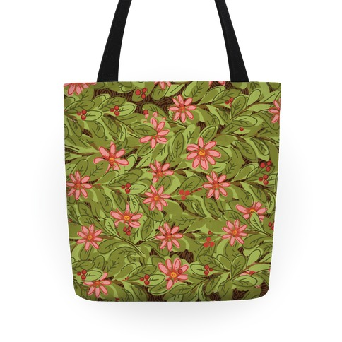 Woodland Forest Foliage Pattern Tote