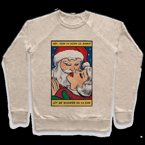 Santa Romance Comic Pullover