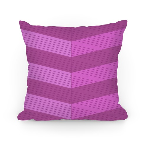 Stripes on Stripes Pattern (Purple) Pillow