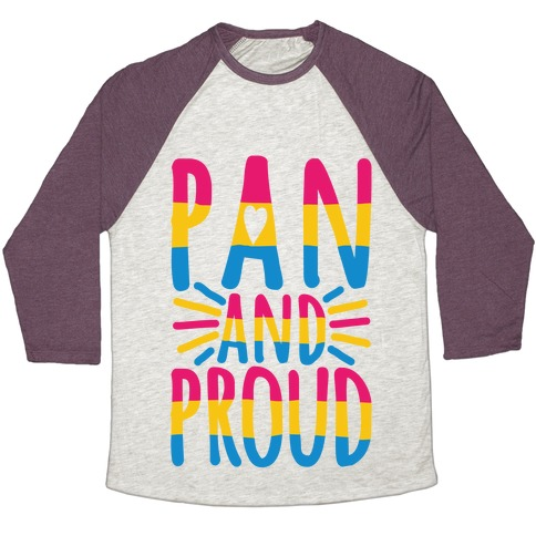 Pan And Proud Baseball Tee