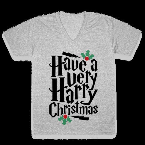 Have A Very Harry Christmas V-Neck Tee Shirt