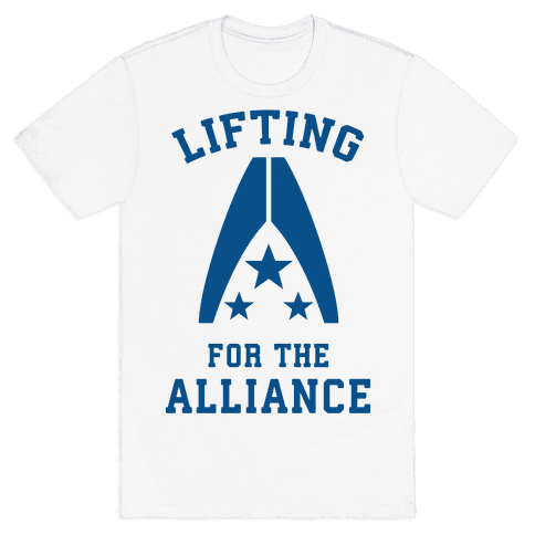 Lifting For The Alliance Mens T-Shirt