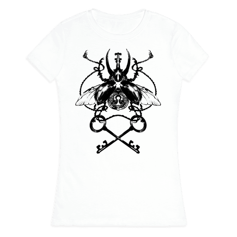 Vintage Beetle Womens T-Shirt