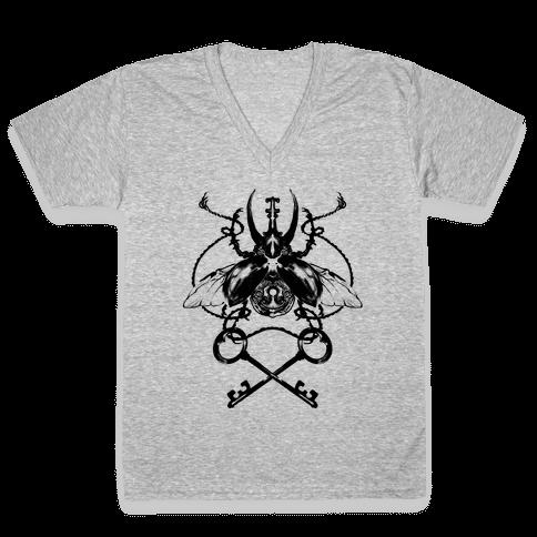 Vintage Beetle V-Neck Tee Shirt