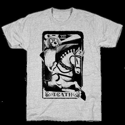 Cat Death Tarot Mens T-Shirt
