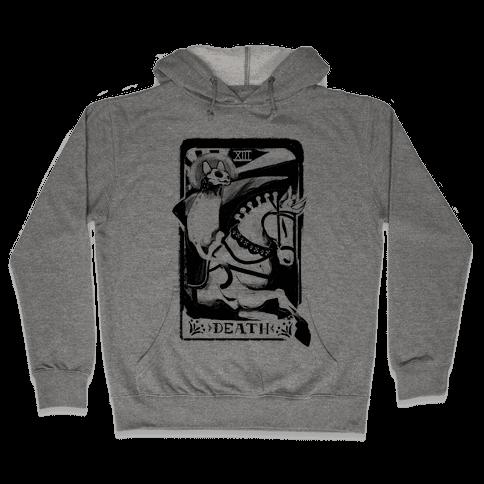 Cat Death Tarot Hooded Sweatshirt