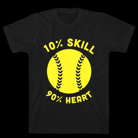 10% Skill 90% Heart (Softball) Mens T-Shirt