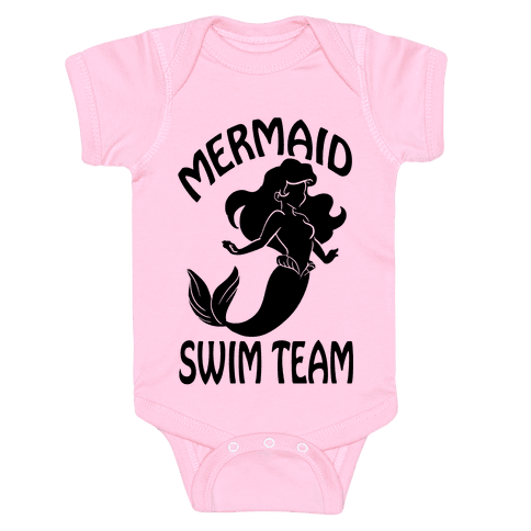 Mermaid Swim Team Baby Onesy