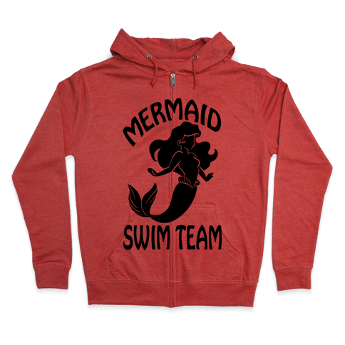 Mermaid Swim Team Zip Hoodie