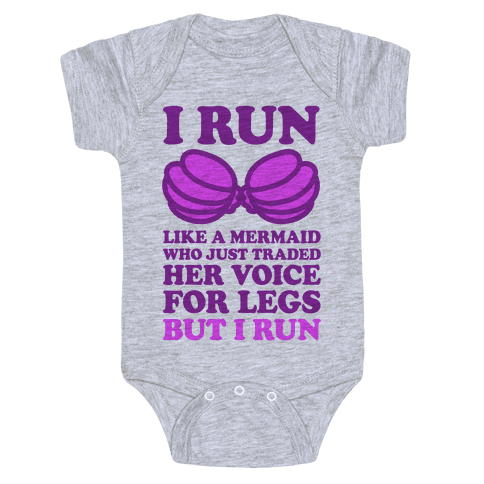 I Run Like A Mermaid Baby Onesy