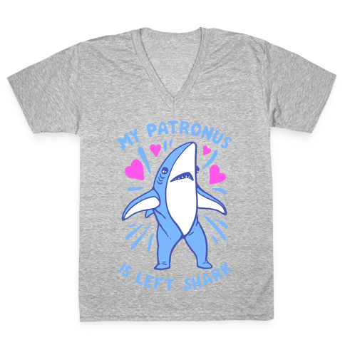 My Patronus Is Left Shark V-Neck Tee Shirt