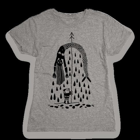Mermaid Hunter Womens T-Shirt