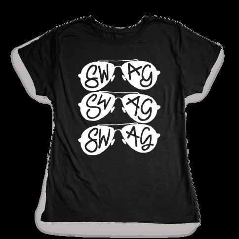 Swag Glasses Womens T-Shirt