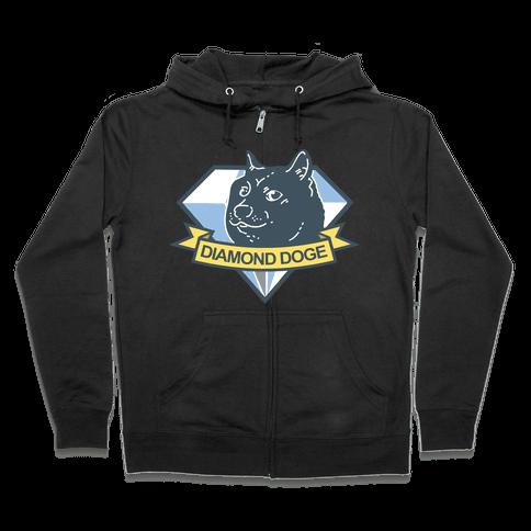 Diamond Doge Zip Hoodie
