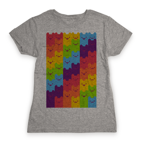 Rainbow Cats Womens T-Shirt