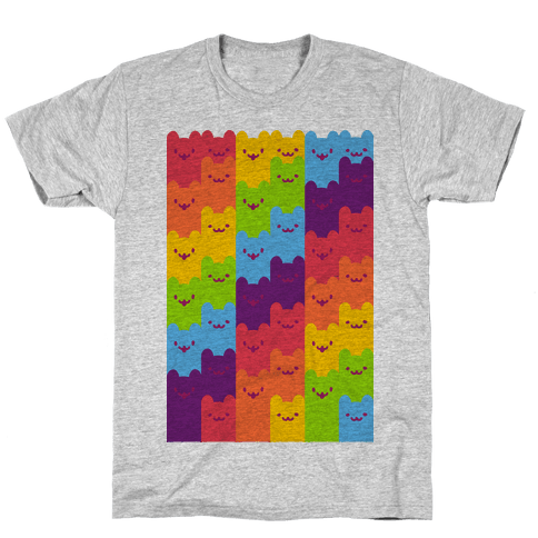 Rainbow Cats Mens T-Shirt