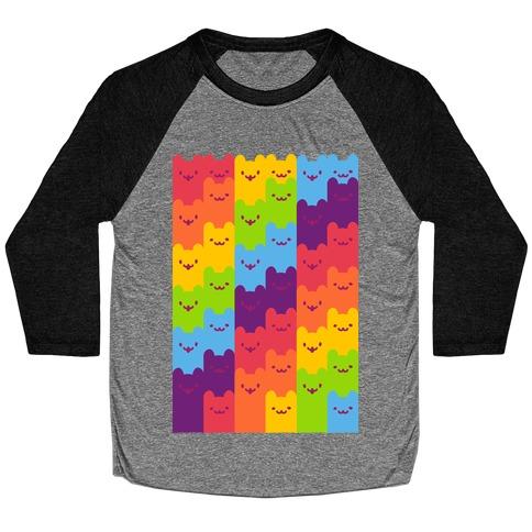 Rainbow Cats Baseball Tee