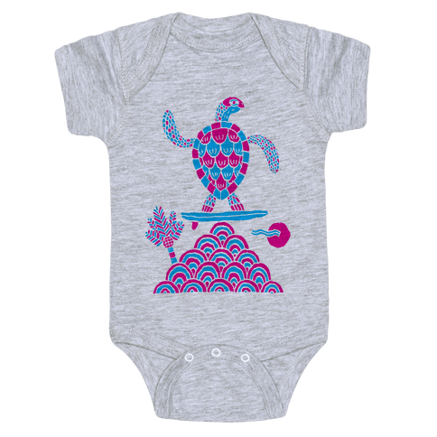 Surf Turtle Baby Onesy