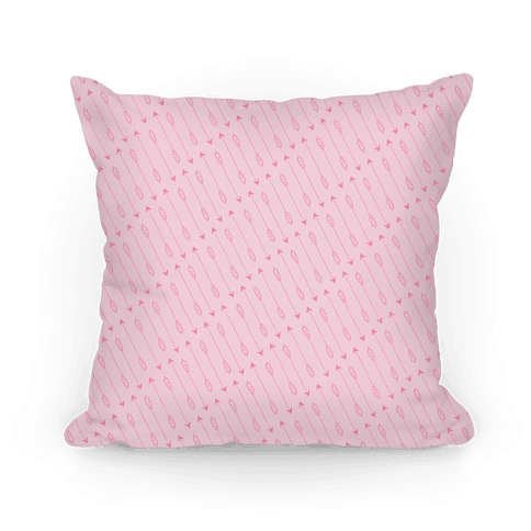 Pink Diagonal Arrow Pattern Pillow