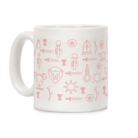 Pastel Pink Tarot Card Pattern Coffee Mug