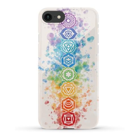 Watercolor Chakra Symbols Phone Case