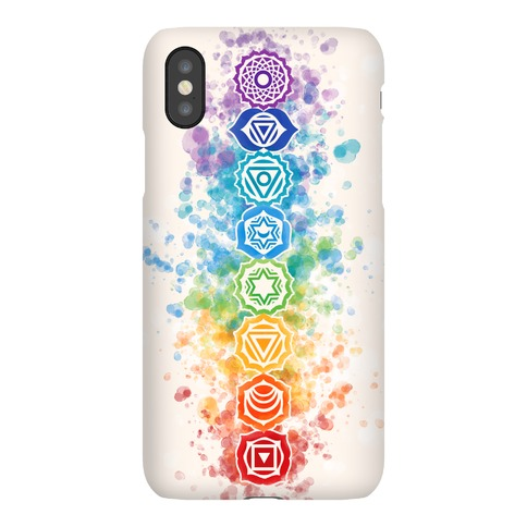 Watercolor Chakra Symbols Phone Case