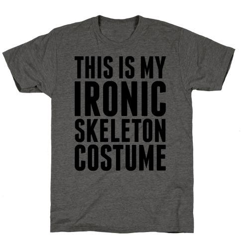Ironic Skeleton Costume T-Shirt