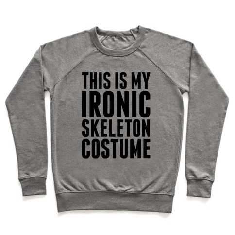 Ironic Skeleton Costume Pullover