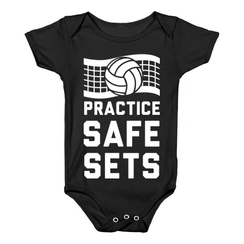 Practice Safe Sets Baby Onesy