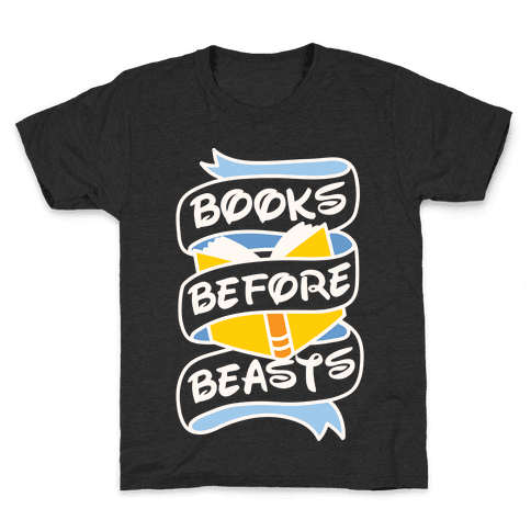 Books Before Beasts Kids T-Shirt