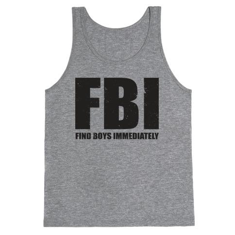 Best Selling Fbi Agent Meme Boy Crazy Tank Tops | LookHUMAN