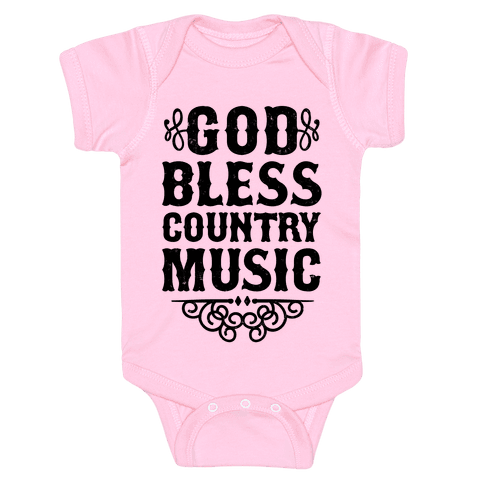 God Bless Country Music Baby Onesy