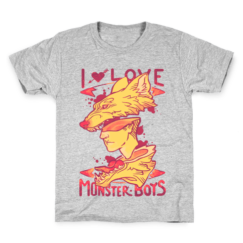 I Love Monster Boys Kids T-Shirt