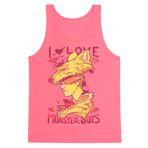 I Love Monster Boys Tank Top