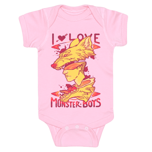 I Love Monster Boys Baby Onesy