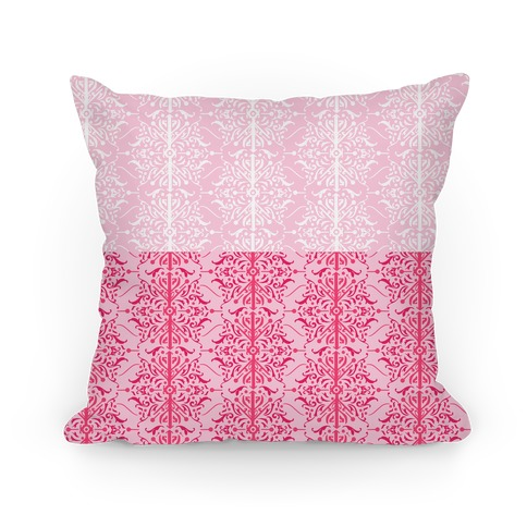 Pink Medieval Ombre Pattern Pillow