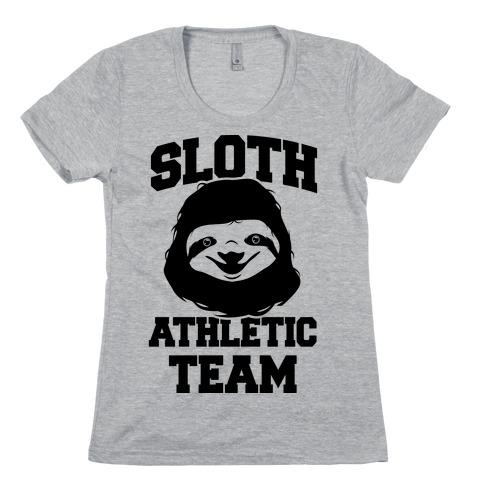 Sloth Athletic Team Womens T-Shirt